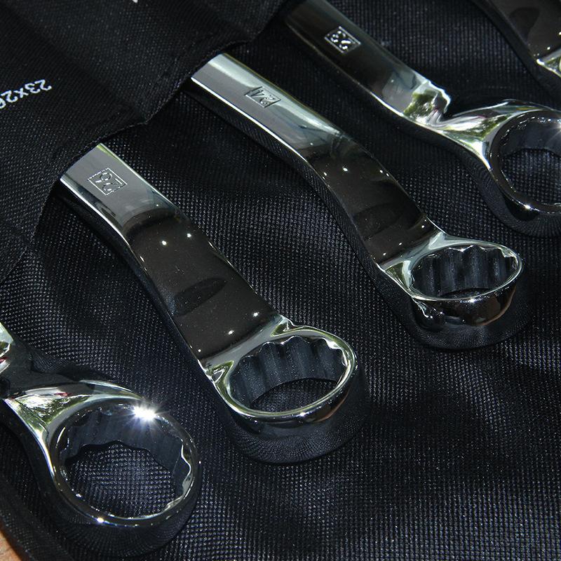 正品授权 供应史丹利STANLEY 11件套公制精抛光45°角双梅花扳手