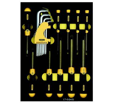 史丹利STANLEY手工具 › 综合性工具套组 ›22件套英制紧固工具托