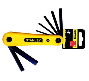 史丹利STANLEY手巴黎人在线娱乐平台 › 紧固类巴黎人在线娱乐平台 › 7件套公制折叠式内六角扳手2.5-10mm