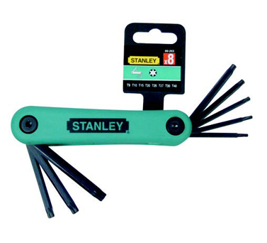 史丹利STANLEY手巴黎人在线娱乐平台 › 紧固类巴黎人在线娱乐平台 ›8件套折叠式花形扳手