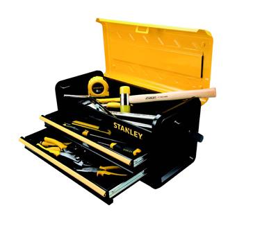 史丹利STANLEY手工具 › 工具包箱车工具 › 单手开双抽屉工具箱