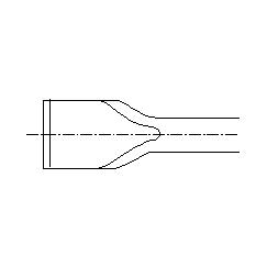 兰士德>>柄式錾子>>SDS max系列>>20º倾角地板錾590300