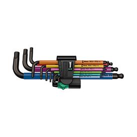 维拉 > 内六角 L 型扳手 > 950 SPKL/9 SM N 公制内六角 L 型扳手组套,彩色, BlackLaser 表面处理